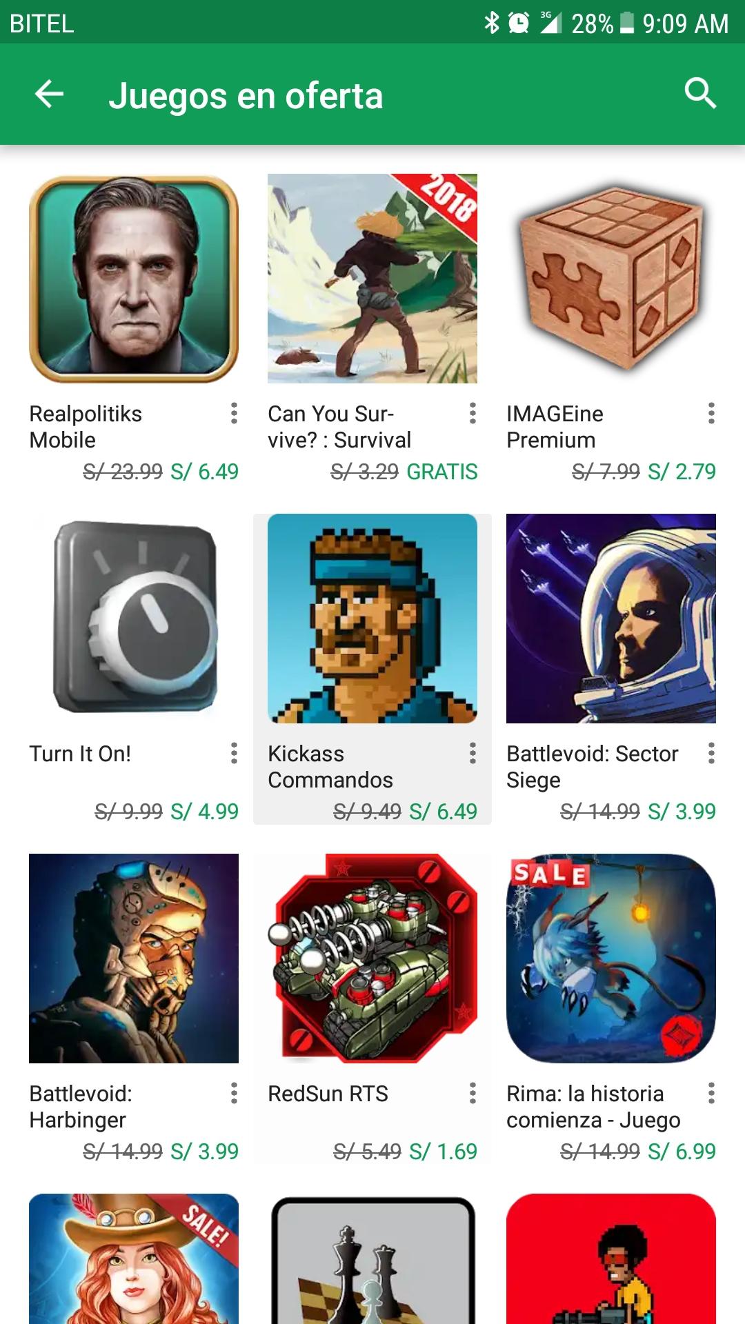 Google Play: 5 Juegos Gratis Android