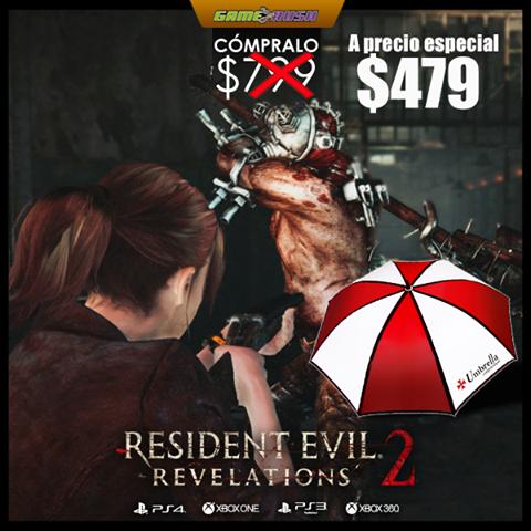 Game Rush: Resident Evil: Revelations 2 de $799 a $479 en Tienda Online para PS3 Paraguas de Regalo