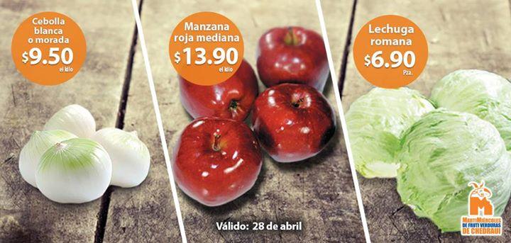 Ofertas de frutas y verduras en Chedraui 28 y 29 de abril