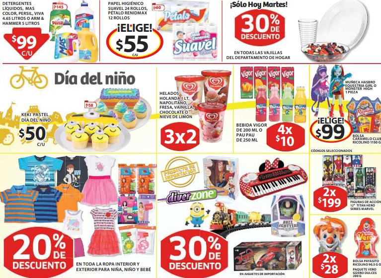 Soriana: 30% de descuento en vajillas y juguetes de importación, 3x2 en helados Holanda