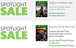 Xbox Store: venta especial de Capcom y Star Wars + delas with gold