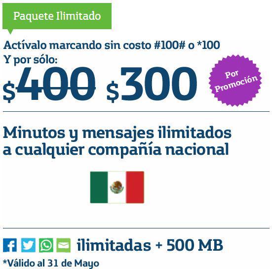 Movistar: llamadas ilimitadas, redes sociales + 500MB por $300