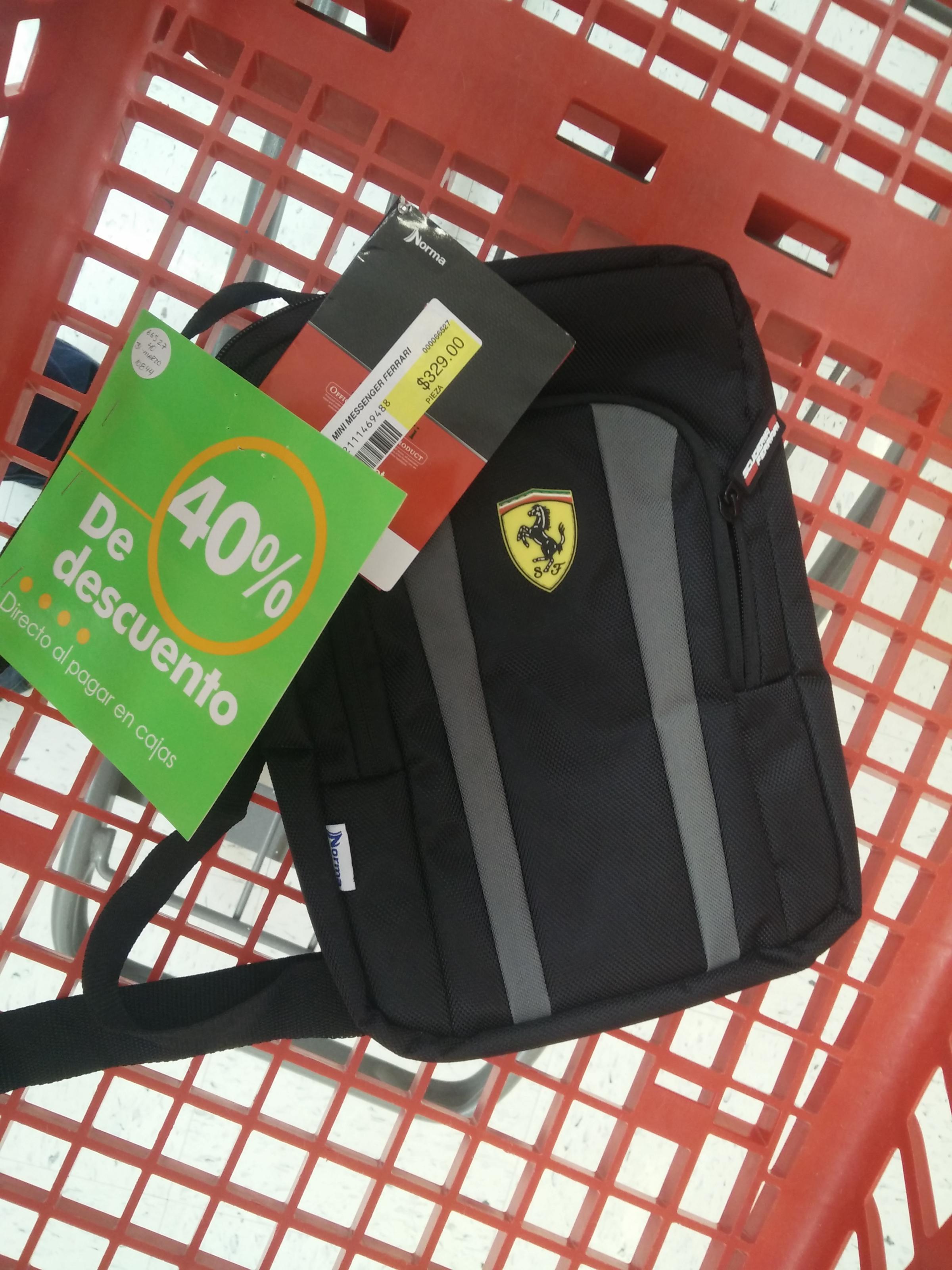 Office Depot: Mini messenger Ferrari con 40%