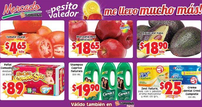 Ofertas de frutas y verduras en Soriana del 11 y 12 de febrero