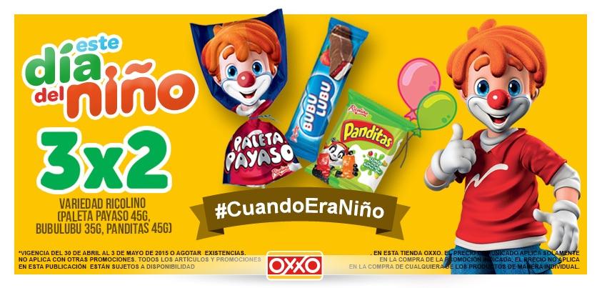 OXXO: 3x2 en Paleta Payaso, Bubu Lubu y Panditas