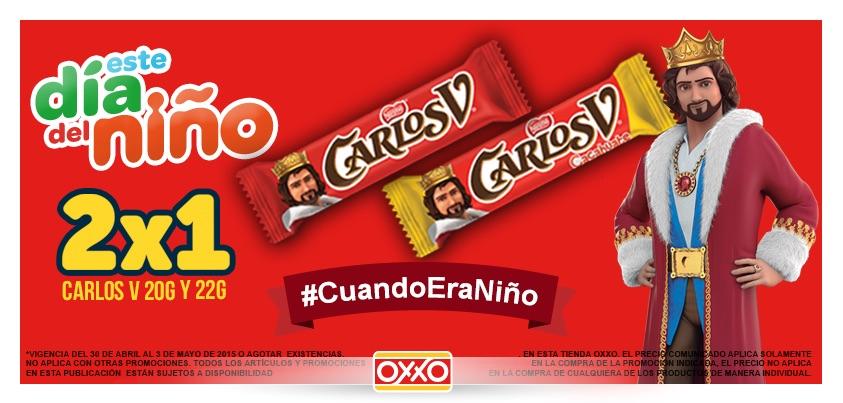 OXXO: 2x1 en chocolate Carlos V