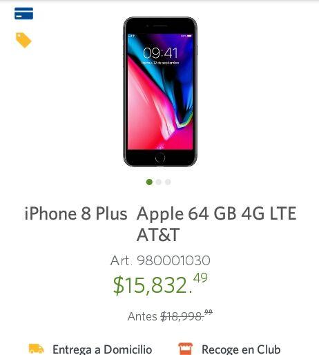 Sam's club: iPhone 8 Plus Apple 64 GB 4G LTE AT&T