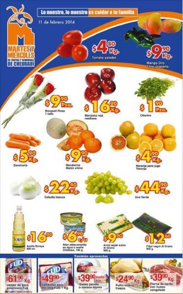 Ofertas de frutas y verduras en Chedraui febrero 11 y 12: tomate $4.80 y más