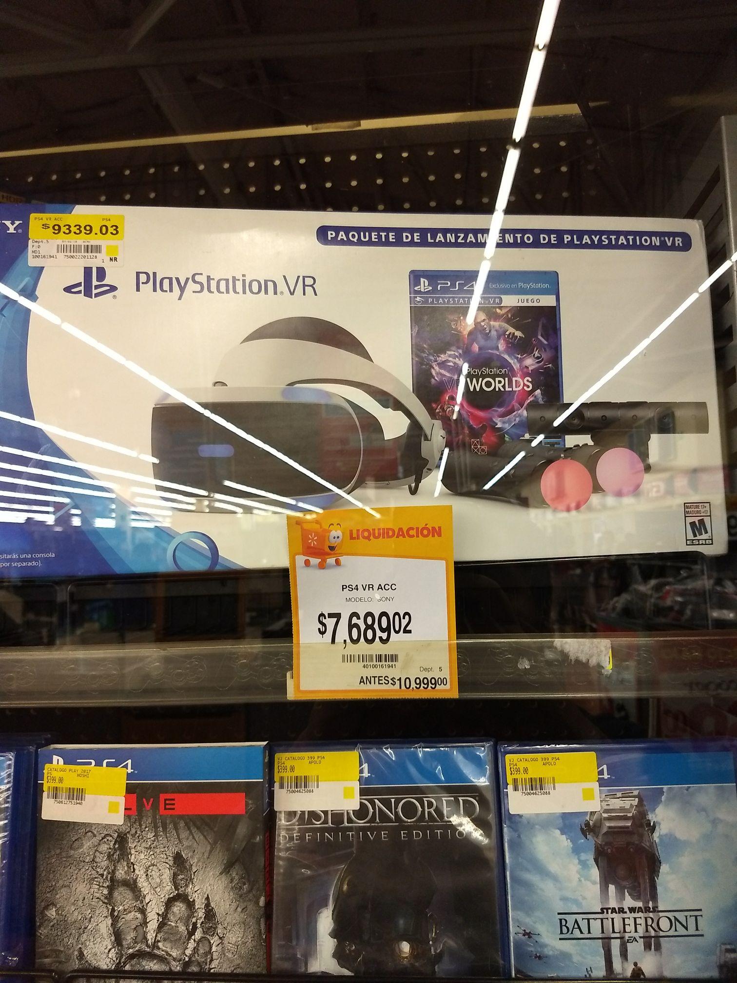 Walmart: Playstation VR COMPLETO