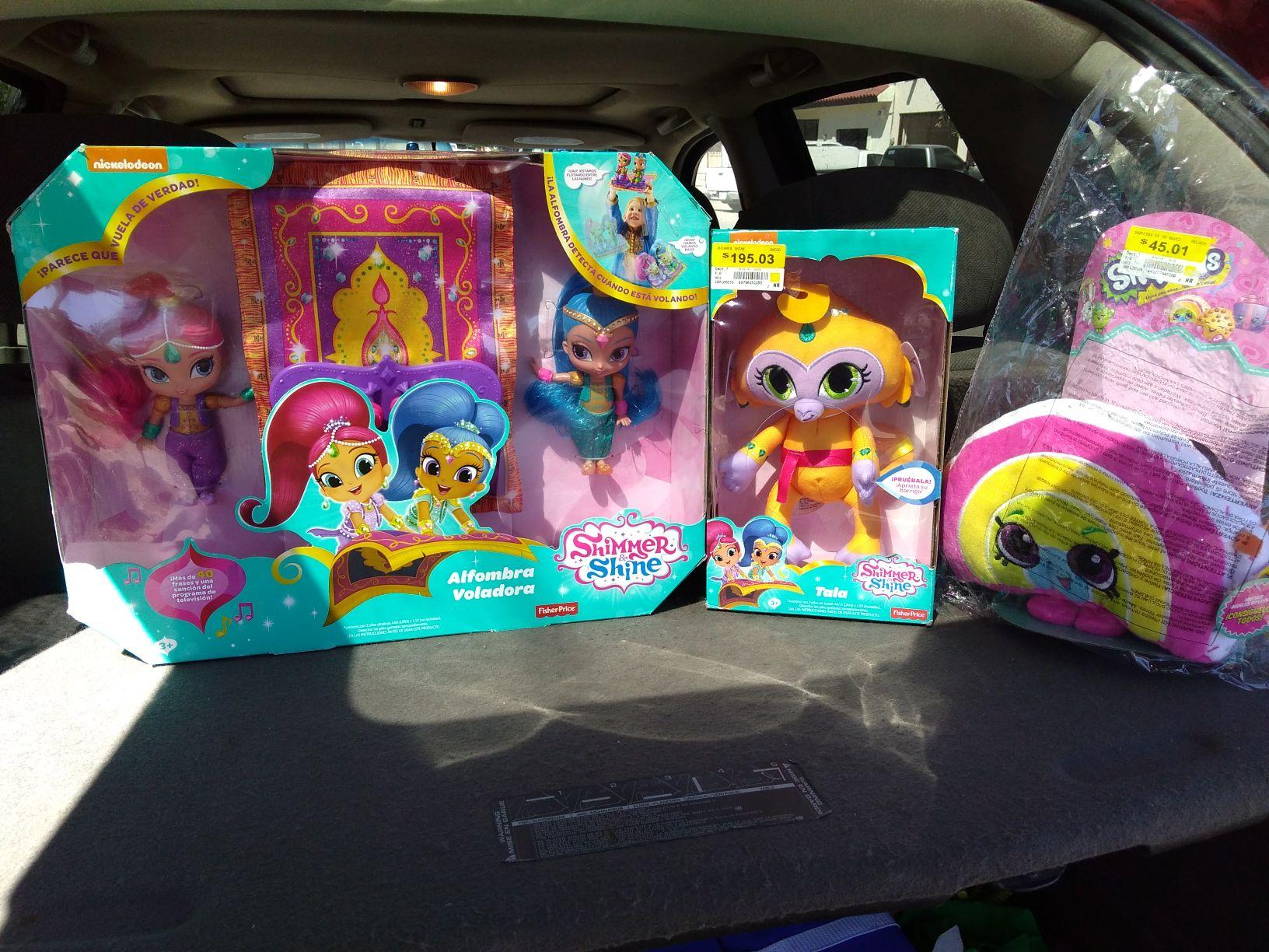 Walmart: juguetes shimer & shine alfombra voladora y muñeca tala