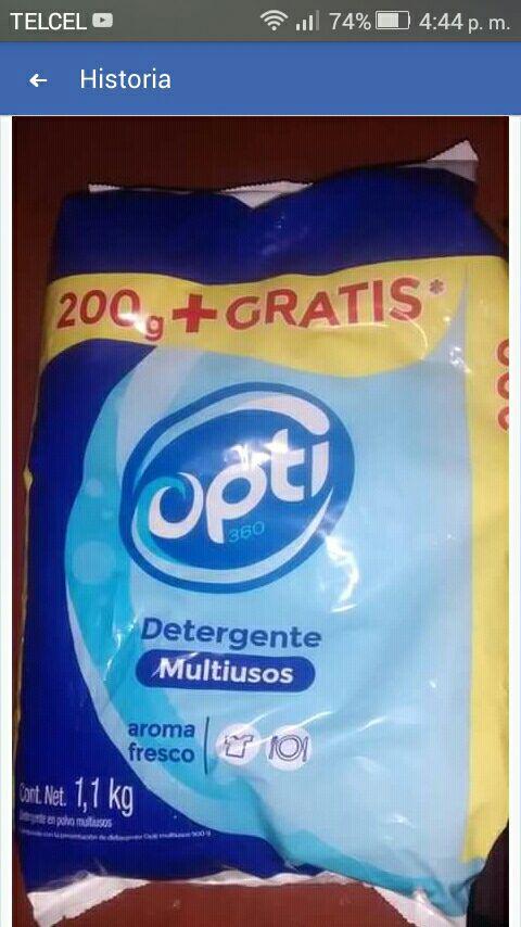 Oxxo: Detergente Opti 1,100gr