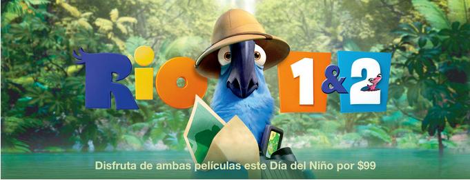 iTunes: Rio 1 & 2 HD de $328 a $99