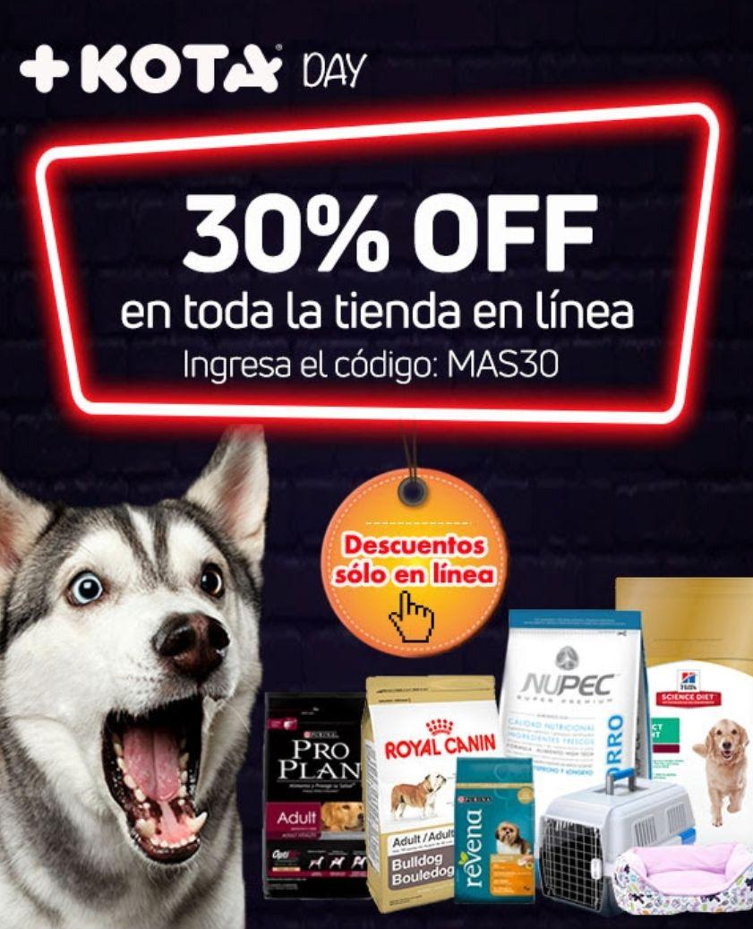 +KOTA: 30% de descuento en toda la tienda (online)