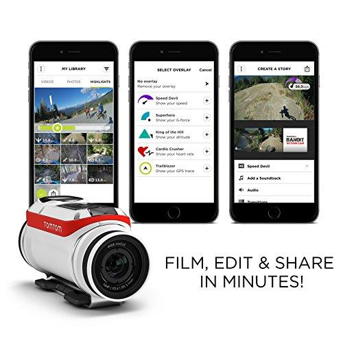 Amazon: Tom Tom Bandit Cámara De Acción, Vídeo HD hasta 4K y Fotos con 16 MP
