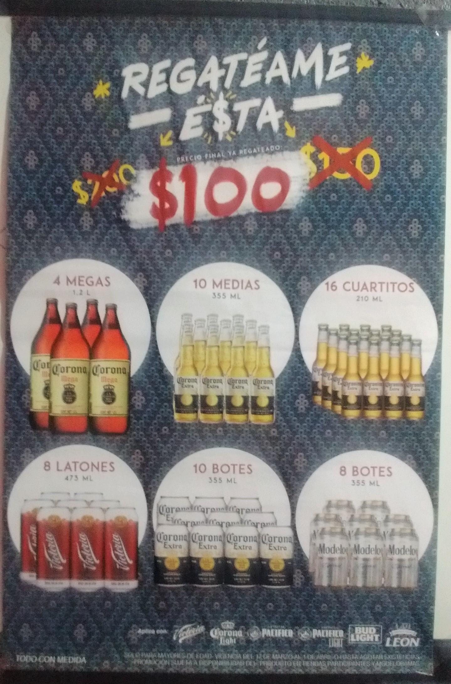 Promociones en cerveza de Grupo Modelo(Corona, Victoria,etc)