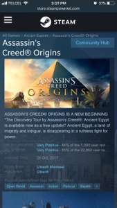 Steam: Assassin's Creed: Origins (PC)
