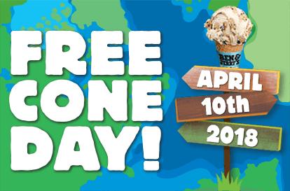 BEN&JERRYS Free Cone Day! HELADO GRATIS HOY