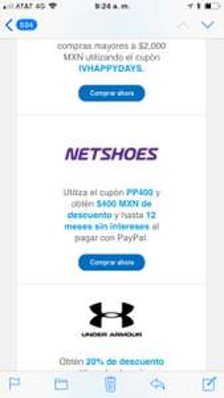 Netshoes: $400 MXN de descuento en compras mayores a $1,499 MXN. No aplica en productos con sello Selección con cupón PP400