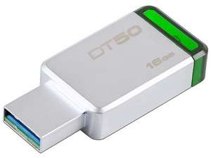 PCEL: Unidad Flash USB 3.1 Kingston DataTraveler 50 de 16GB color verde