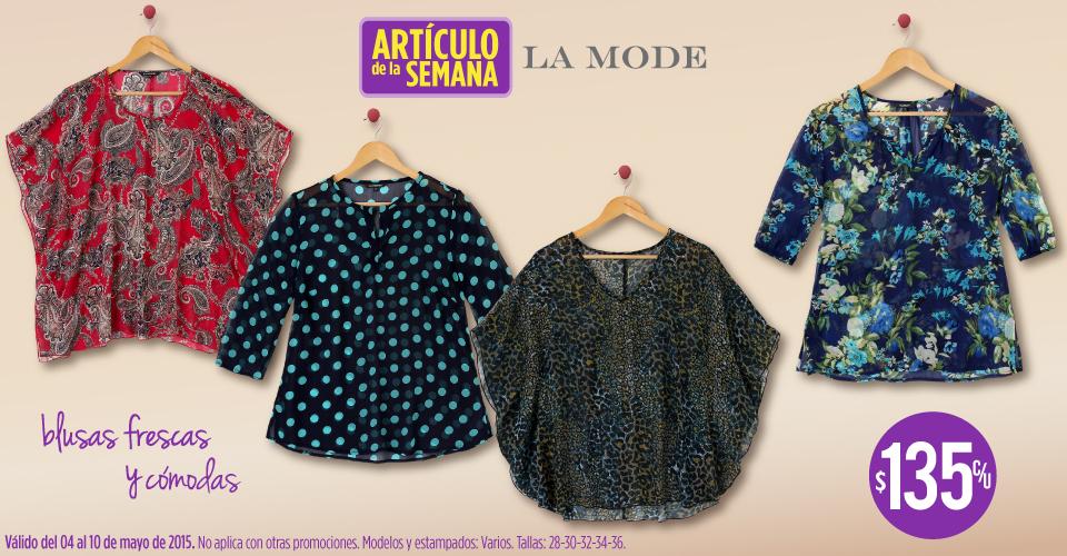 Suburbia: blusas La Mode $135