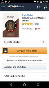 Amazon Kindle: Drácula Gratis