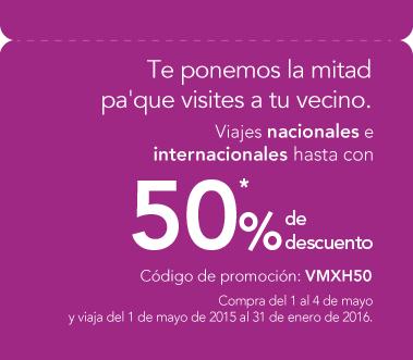 Volaris: HASTA 50% de descuento en vuelos