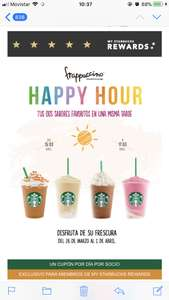 Starbucks: Happy Hour 2x1 frappuccinos