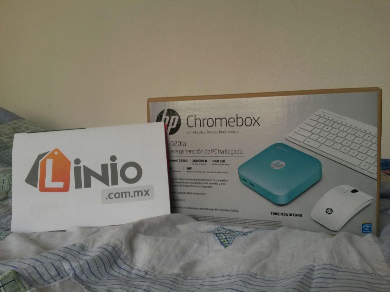 Linio: PC HP Chromebox + Kit teclado y Mouse inalambricos a $1,499 o menos