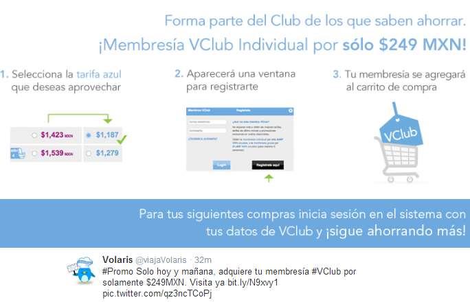 Volaris: 50% de descuento en membresía VClub