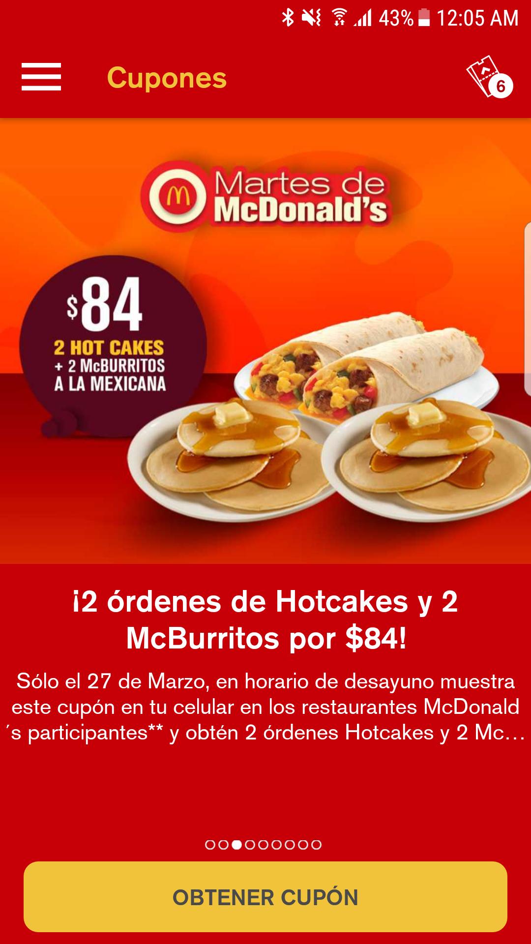 McDonald's : desayuno de los martes!