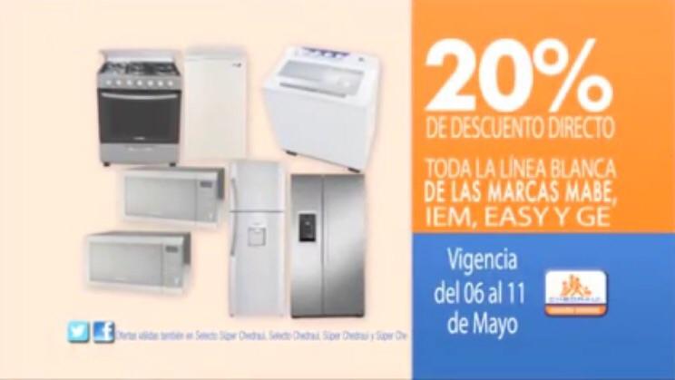 Chedraui: 20% de descuento directo en electrodomésticos