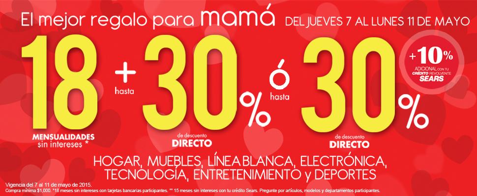 Sears: Promociones del 7 al 11 de Mayo y Venta Especial
