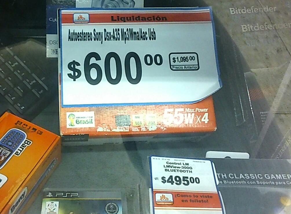 Chedraui: Autostereo Sony DSX-A35 ($550 con cupón)