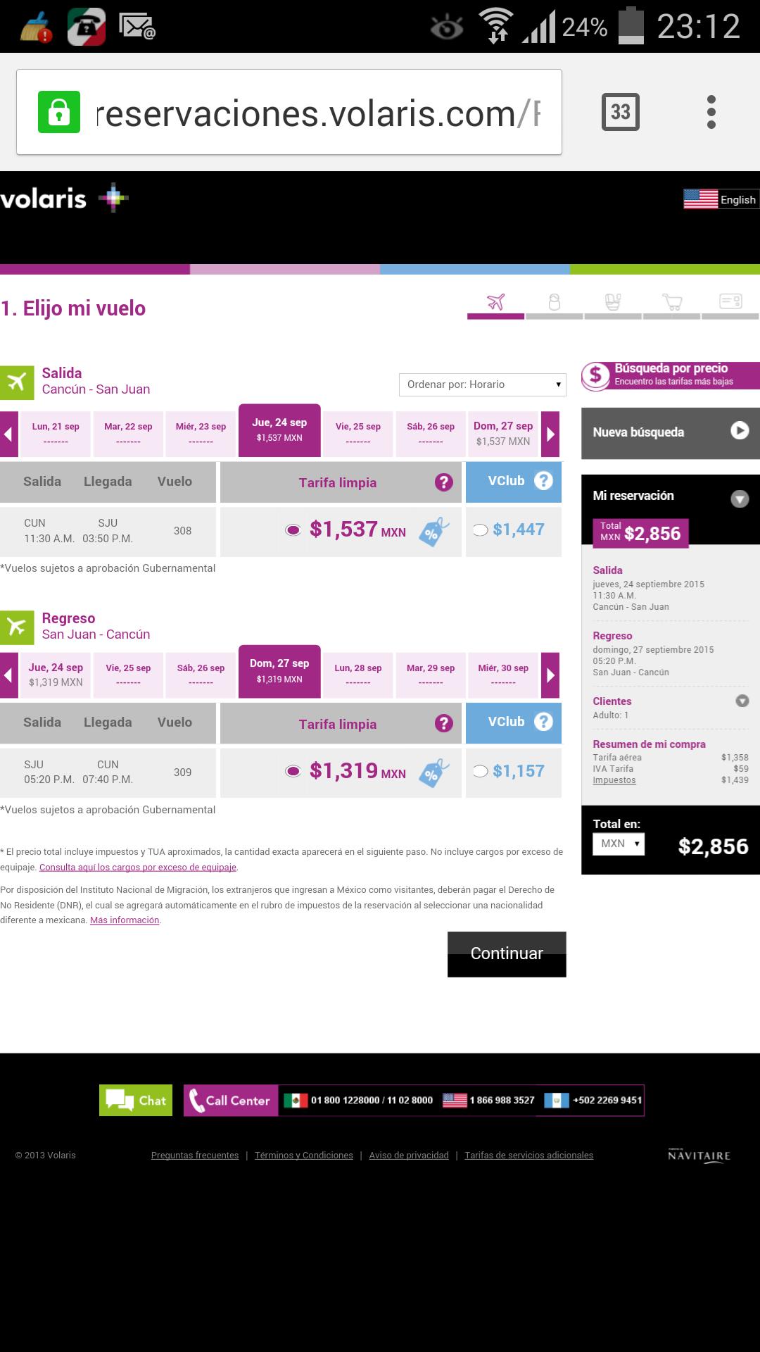 Volaris: Vuelos Cancún - Puerto Rico con 50% de descuento desde $2,856 (menos si eres Vclub)