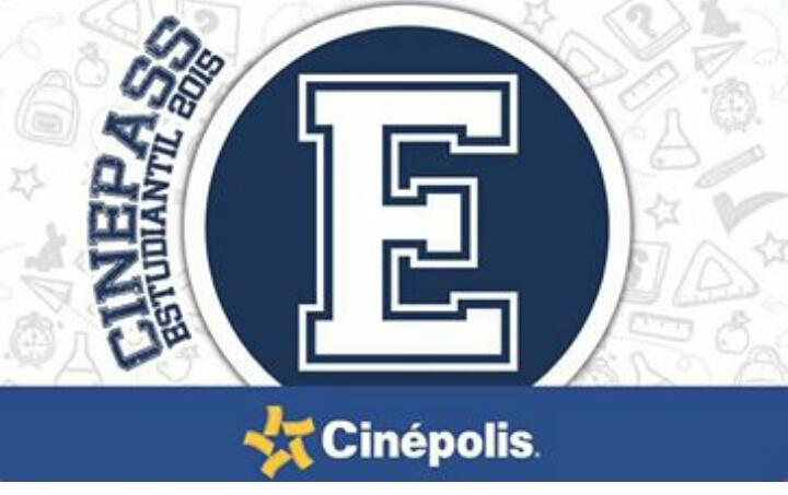 Cinepass estudiantil 2015 (15 boletos a precios especial y un 2x1 por $10)