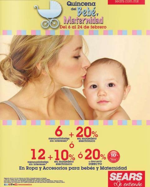 Sears: quincena del bebé y maternidad