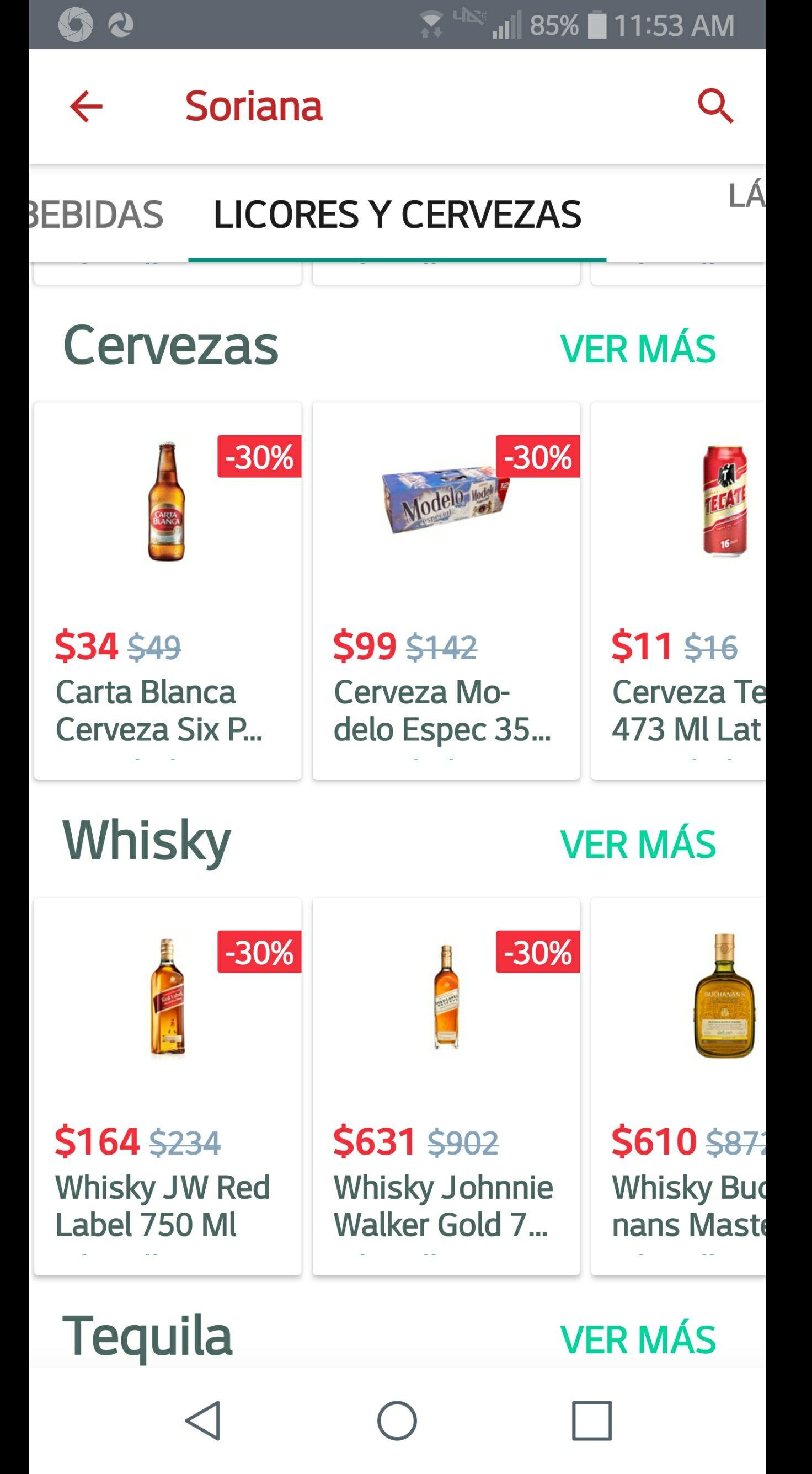 Mercadoni: 30% de descuento en vinos, licores y cerveza