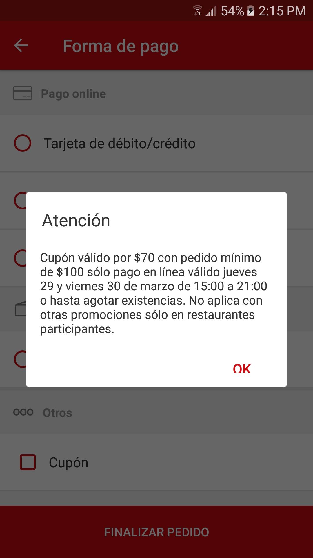 SinDelantal: Cupón de $70 de descuento en compra mínima de $100