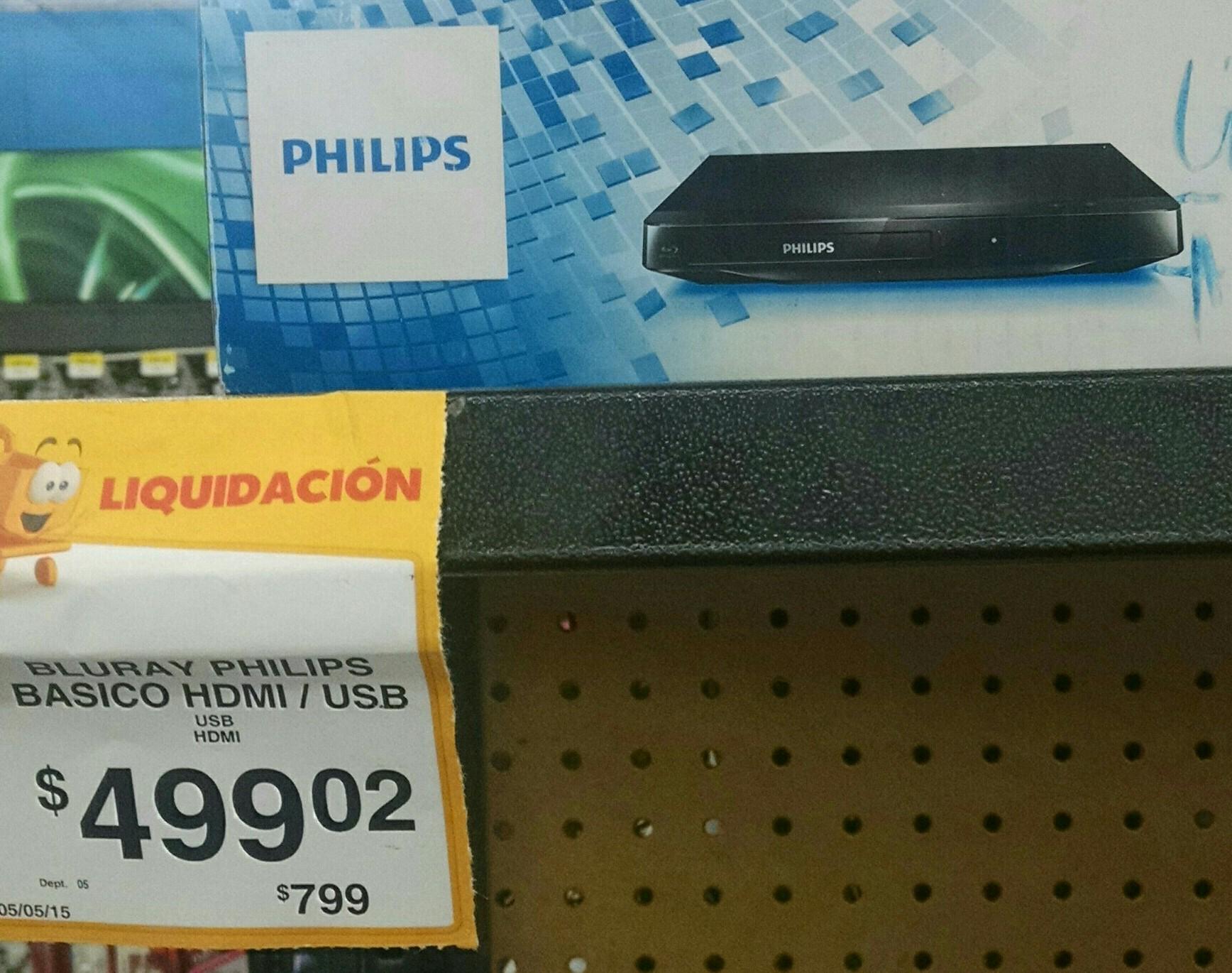 Walmart: Blu-Ray Philips a $499.02 en líquidacion