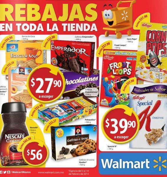 Folleto de ofertas en Walmart del 5 al 14 de febrero