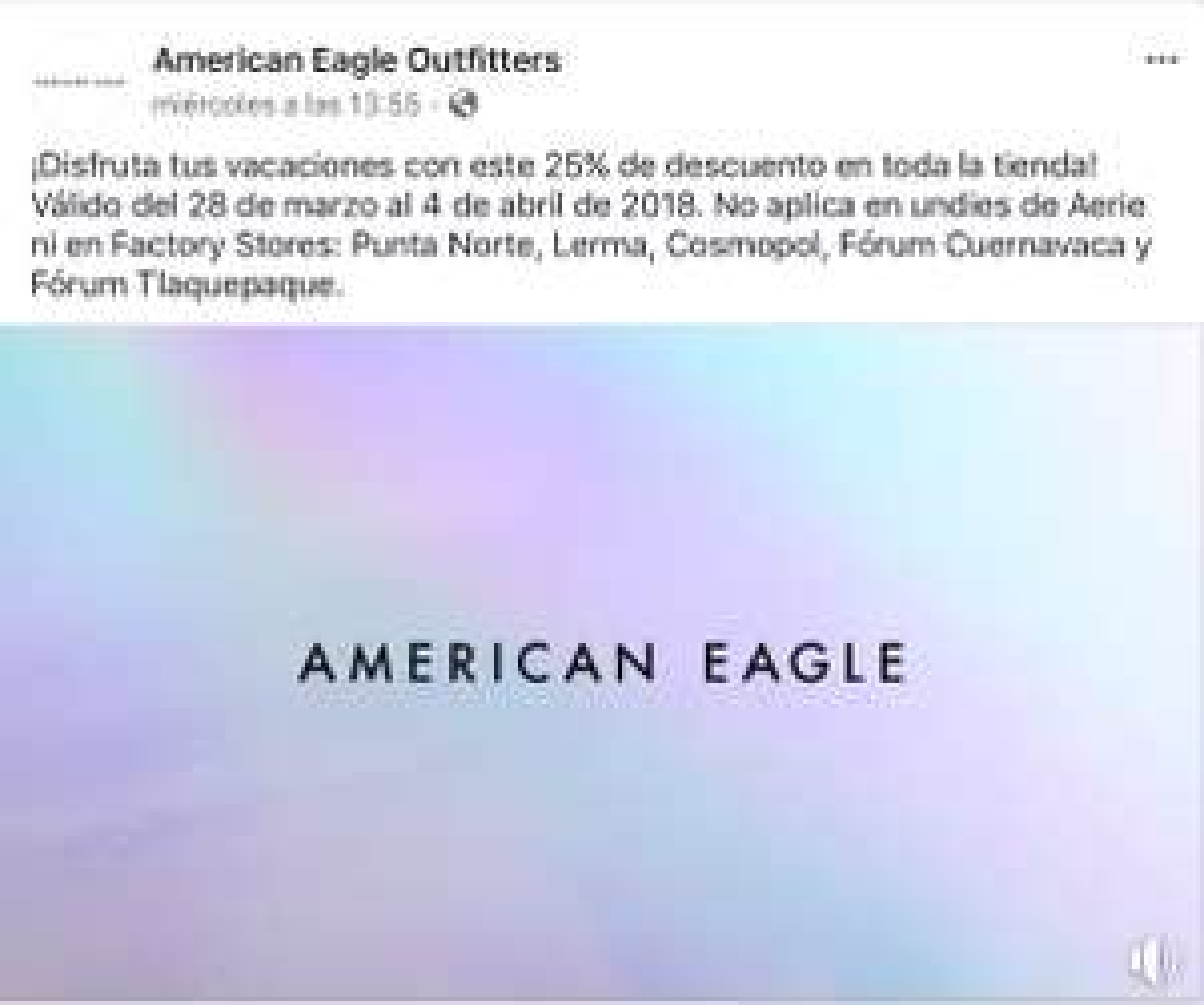 American Eagle: 25% de descuento en toda la tienda