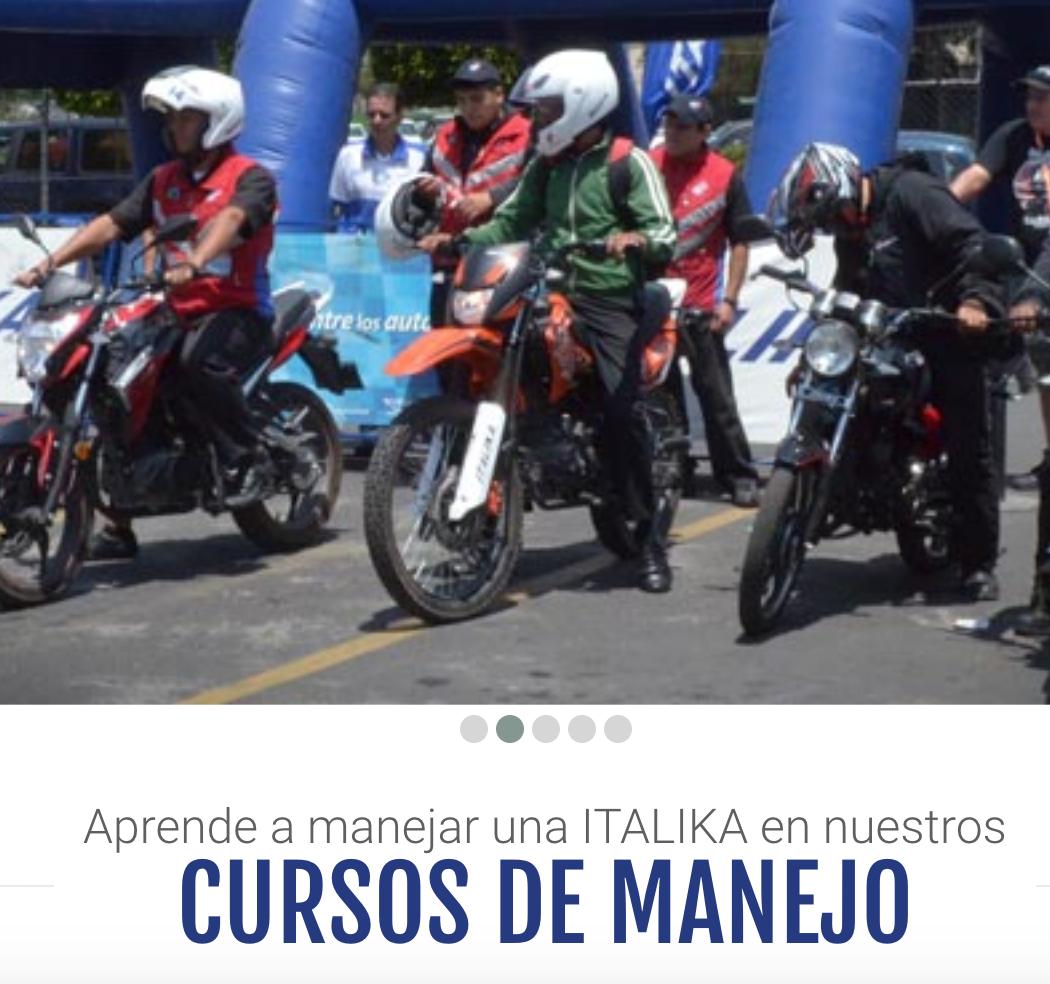 GRATIS Cursos de manejo de motos cortesía de Italika todo 2018
