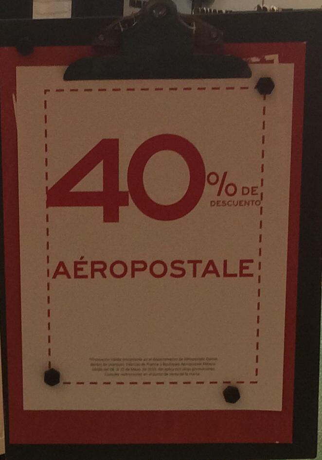 Aeropostale: 40% de descuento en toda la linea de damas