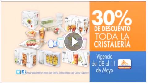 Chedraui: 30% de descuento en Cristalería