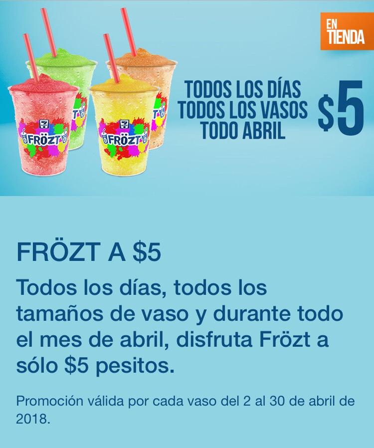 7 Eleven: Frözt a $5 durante el mes de Abril