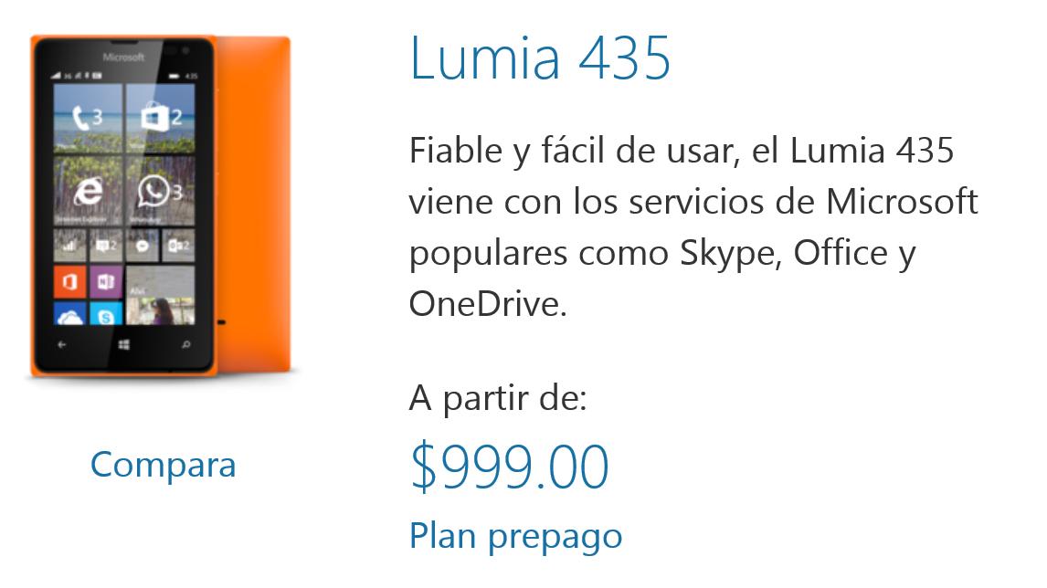 Movistar: Lumia 435 a $999