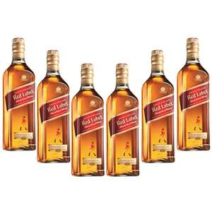 Costco: Johnnie Walker Red Label 12 Botellas 700ml (Precio con Cupón)
