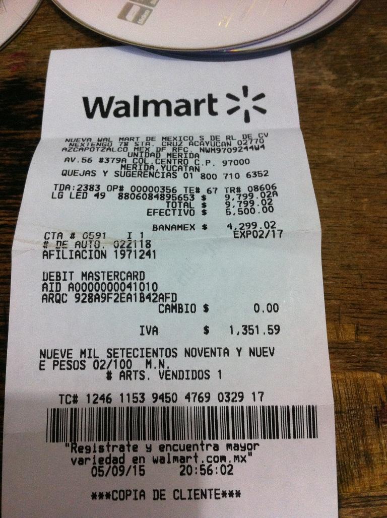 "Walmart: LG LED 49"" Ultra HD Smart TV 120Hz a $9,799.02"