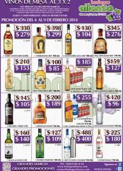 Bodegas Alianza: 3x2 en vinos de mesa, Don Julio $276, Herradura $299 y más
