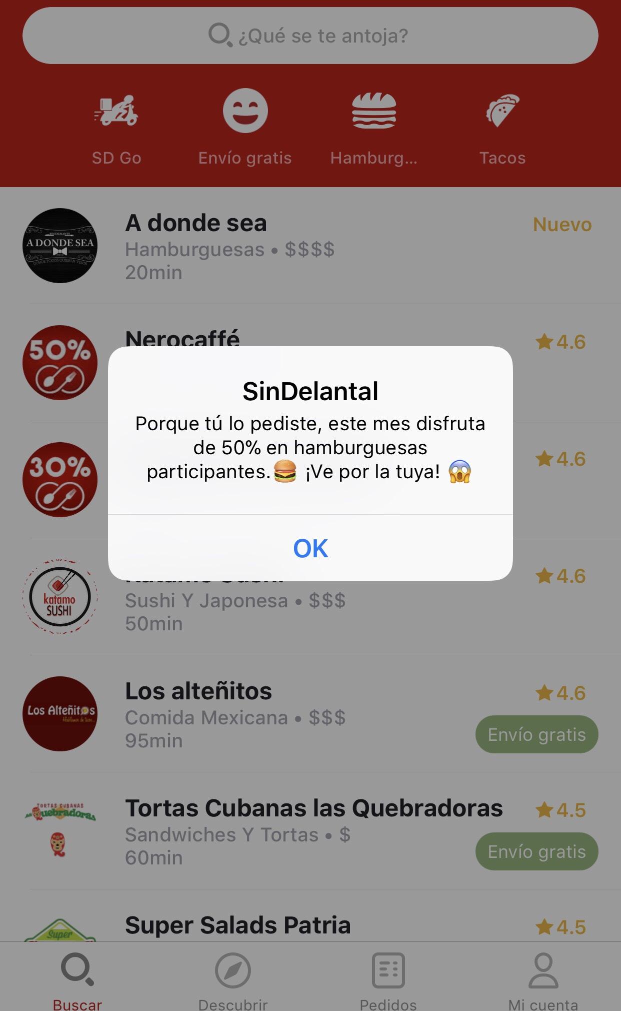 SinDelantal: 50% en hamburguesas todo el mes de Abril!